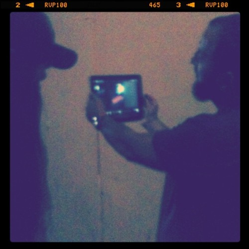 Using an iPad for previs- @crosstownmovie is hi-tech (Taken with instagram)