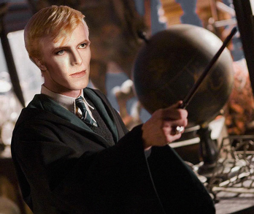 davidbowieaseveryone:  David Bowie as Draco Malfoy