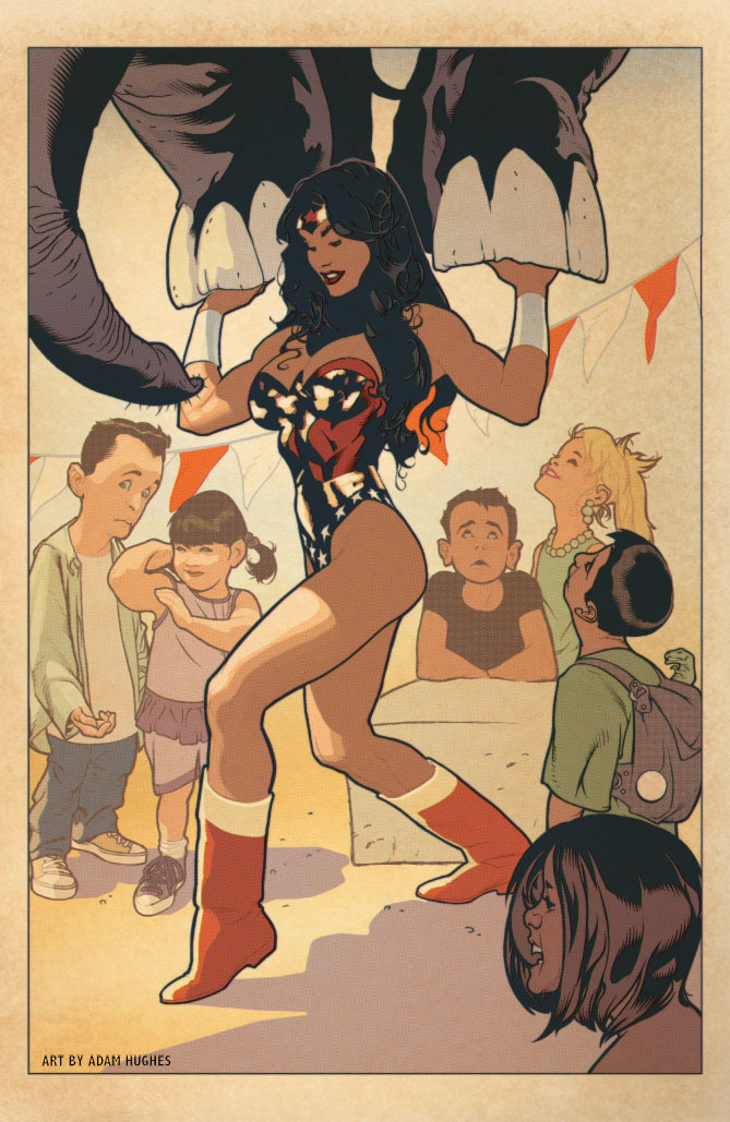 Wonder Woman #600 Cover by Adam Hughes