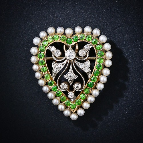 Antique Heart Pin.