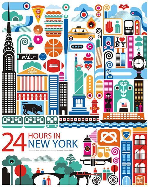 Beautiful City Illustrations by Fernando Volken Togni.