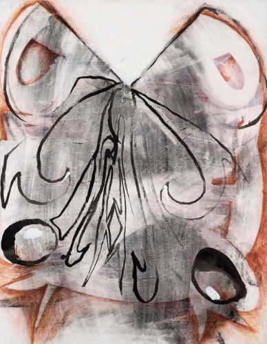 "Suzanne McClellandPrick, 2010Charcoal, conte crayon, and oil on linen28"" x 22"" VIA"