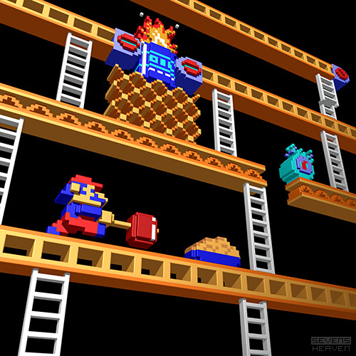 laughingsquid:  Inside Video Games, A Retro Collection of 3D Pixel Art by Metin Seven