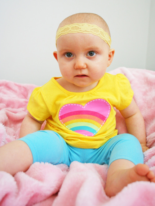 This is a day we had a photoshoot with Coco's new rainbow t-shirt. <3