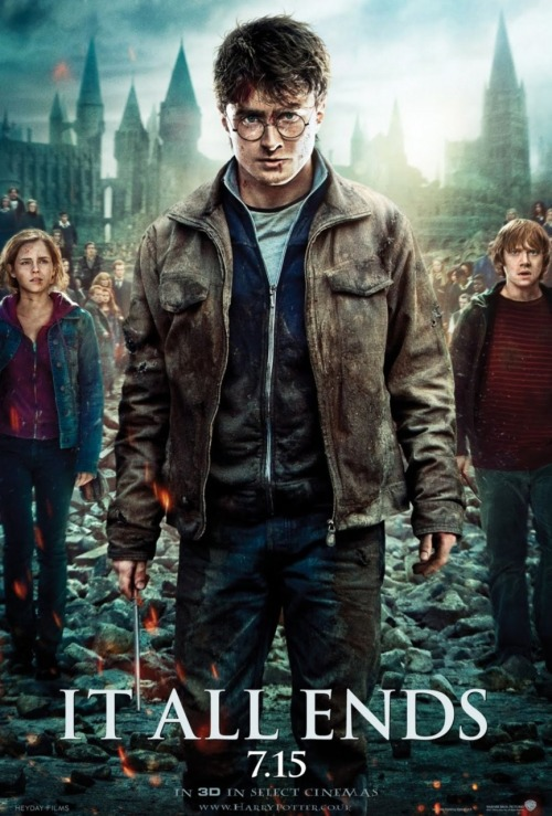 "Harry Potter and the Deathly Hallows:  Part 2 (2011) P365 Film #190 Well, well, well. Here we are. After 11 years, eight of which had a movie released, we are finally at the end of the Harry Potter saga. I think I read the first book when I was about 11 or 12 and and books 2-4 shortly thereafter. The first movie came out not long after that. And I kept up with the books and movies, right up until today. So what did I think of this final film? It was good. But the word that kept coming to mind was… ""underwhelming"". I'm not sure if I put too much expectation on it, or if I was remaining too faithful the book but most things fell flat for me. It started off really well. There were some really awesome moody shots and I was getting amped for the ending. But I just kept waiting and waiting and waiting for something epic and amazing and I didn't feel it ever quite delivered. I was particularly disappointed in how it kind of glossed over some of the deaths of certain characters. I was looking forward to some emotional intensity at characters being killed, but they were very casually dealt with. It showed them dead for a second, then moved on to whatever Harry was doing. Everything moved so fast - they hardly ever dwelled on anything (though that's been true of most of the films for me). So, yeah, most things felt disappointing to me. Harry's final confrontation with Voldemort should've been the grandest moment of the series, but it was nothing too spectacular. Also, I guess it was inevitable with it being all about Harry and there being so many characters, but a lot of them really felt marginalised. Some of the pretty important or memorable characters only got one line, if that. One thing I will praise greatly was Alan Rickman. He was the best actor in the film and I really liked the flashbacks to his past. Maggie Smith was also brilliant. Anyway, I guess I wish I didn't have the baggage of having already read the books. It's really nowhere near as bad as I'm making it sound - it was still pretty well-made and enjoyable, but, like I said, underwhelming. I'm now pretty keen to read all the books again, to see how the stories should be experienced."