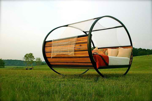 amazing rocking bed built from industrial waste (via The Shiner's Minimalist Rocking Bed| Inhabitat - Green Design Will Save the World)