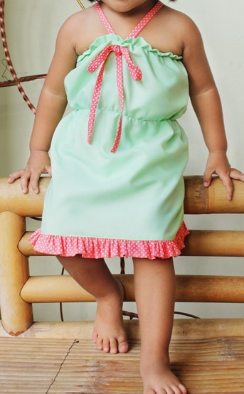 FREE SHIPPING Ruffled Halter Dress PDF by SeaminglySmitten