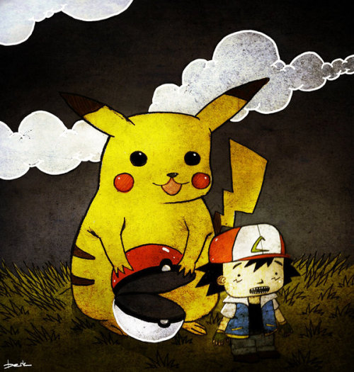 It seems that the tables have turned in the world of Pokemon. Ash no longer pushes Pikachu around thanks to the artwork of Berk Ozturk. Related Rampages: Angry Birds Evolution | Darth Napkin (More) I Choose You Ash by Berk Ozturk (Facebook) (DinoDream)