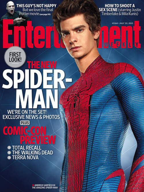 This week's entertainmentweekly cover:  Spidey's back!