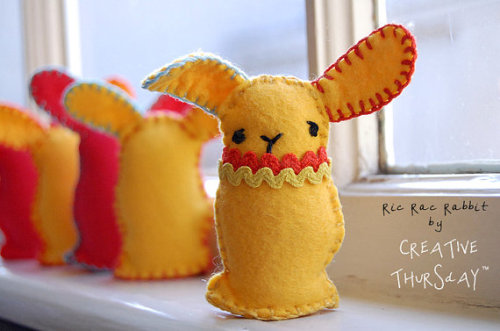Ric Rac Rabbit Pattern PDF by creativethursday on Etsy