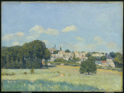 Vue de Marly-le-Roi, effet de soleil, 1876 Alfred Sisley (French) Painting, oil on canvas,  73.8 x 92.5 x 6 cm Gift of Mr. and Mrs. R. Fraser Elliott, 1989
