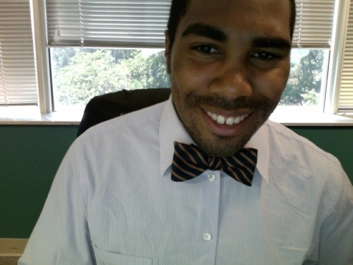 Came in the office today and this bow tie was sitting on your boys desk.  My Co worker dropped it off right before a sales meeting.  He was looking fresh  in a vintage Structure khaki Suit.  Yes I said structure.  Bow Tie - Brooks Brothers Shirt - J Crew