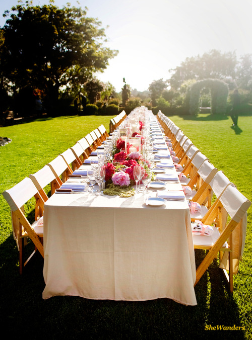 My dream wedding reception.