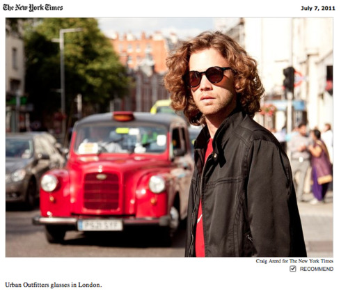 """Craig Arend for the New York Times"" Round Sunglasses for Men."