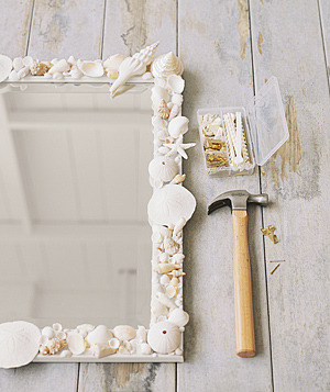 DIY Shell Frame Mirror (by Real Simple)