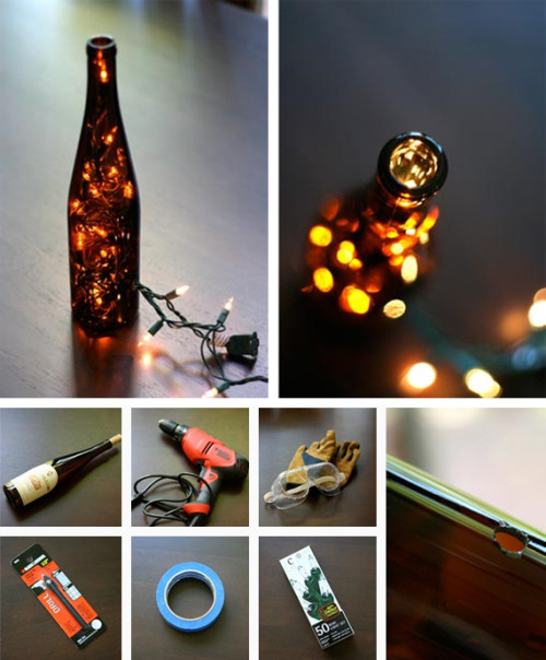 I am so loving this Decoration Wine Bottle Light (by Oh Crafts). Definitely something to try soon!