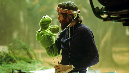 Jim Henson (American, 1936–1990) & Kermit the Frog on the set of The Muppet Movie (1979) .