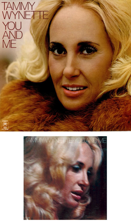 "tammywynette:  You And Me is released in September, 1976. The US cover of Tammy Wynette's 17th solo studio album featured a blurry ""in concert"" shot while the UK version featured a close up of Tammy in furs."