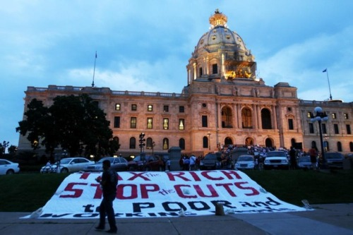 Minnesota Lawmakers in Talks to End Government Shutdown A great compilation of coverage compiled here (PHOTO via MPR /Jeffrey Thompson/July 1)