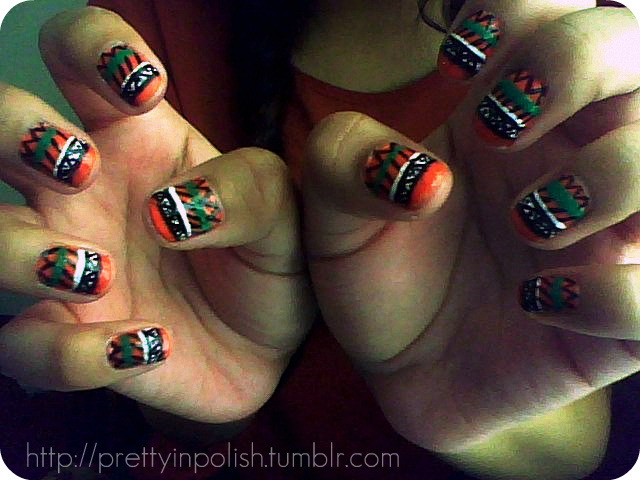 tribal print inspired by WAH NAILS!