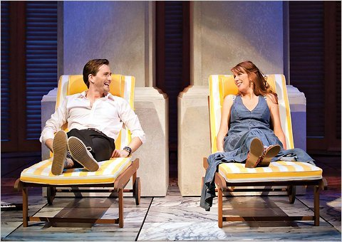 David Tennant and Catherine Tate as Beatrice and Benedick in a production of Much Ado About Nothing in London. But where's the TARDIS?
