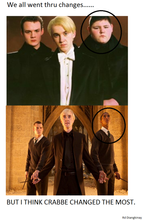 But that's not Crabbe… . That's Blaise… Come on HP fans. Come on.