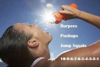 fitvillains:  Quick & Dirty Thursday Workout!  A. Burpees B. Pushups C. Jump Squats  This workout isn't complicated, and most of you will be able to finish it in only about 10 minutes. 10-9-8-7-6-5-4-3-2-1 Directions: Do 10 Burpees, 10 pushups, 10 jump squats…. then 9 Burpees, 9 pushups, 9 jump squats… work your way down all the way to 1! ** Modify the moves as you need to. CHALLENGE: Instead of 10, start at 15 (or 20) and work your way down to 1 (or as far as you can). You can also go all the way down to 1, then move back up the pyramid. Ready? Set? GO!!