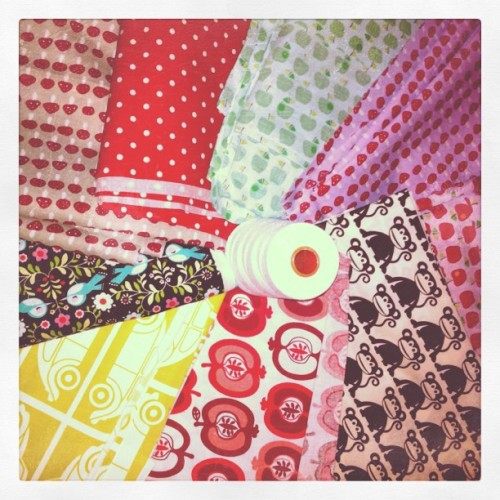 new fabrics in da house! :) think I will start a late night sewing session now… #fabrics #retrodesign #retrofabrics #sewing (Taken with instagram)
