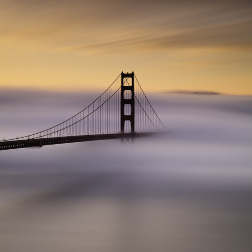 Painted Foggy Sunrise  At The Golden Gate by maxxsmart on Flickr.wow.