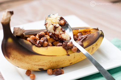 gastrogirl:  stuffed grilled banana.