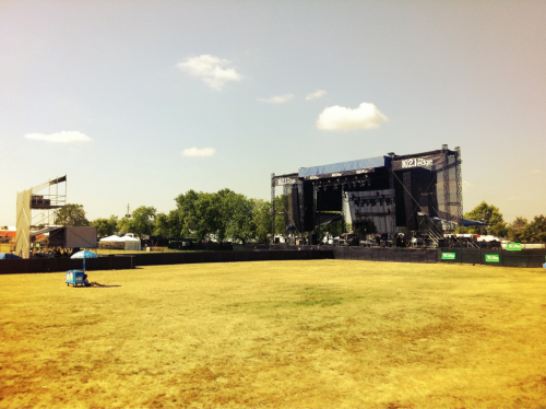 I took this when I first arrived to volunteer at edgefest. Before the gates were even open. I literally had no idea what I'd be doing that day. I thought I'd be stuck at guest list or checking VIP passes, which I was totally cool doing….But I got a way cooler job.