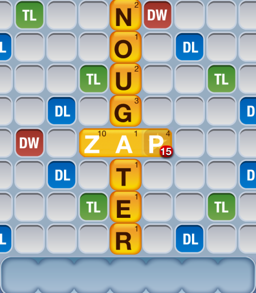 "Stop your lying, Words With Friends! Nougater: noun ""NEW-gat-er"" 1. One who applies nougat to an item.  ""Hey, these Milky Ways aren't complete yet. Call in the nougater!""  I rest my case. Ag"