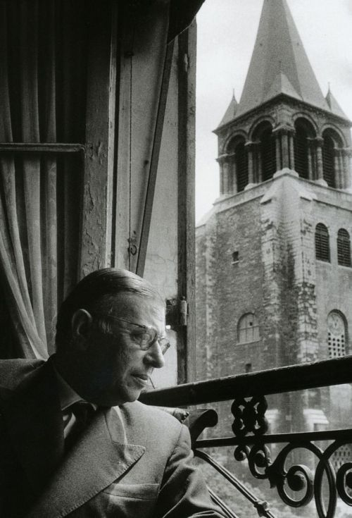 praise-of-folly:   Willy Ronis Jean-Paul Sartre Paris, 1956 From Willy Ronis