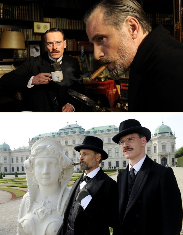 Michael Fassbender & Viggo Mortensen in David Cronenberg's A Dangerous Method