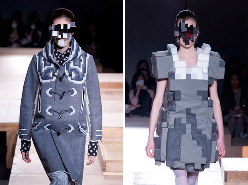 mintchocolate31:  Design Milk - Pixel Fashion by Kunihiko Morinaga for Anrealage