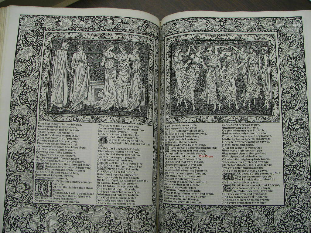 Geoffrey Chaucer La Romaunt of Rose (Dancing Maidens) The Works of Geoffrey Chaucer. Chaucer. Kelmscott Press. 1896. http://www.mccunecollection.org/kelmscott_chaucer.html