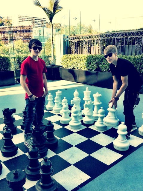 "Christian Beadles & Justin Bieber playing ""Chess"""