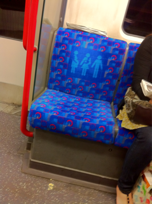Are they finally starting to do up the central line trains?! New seat covers on this one!