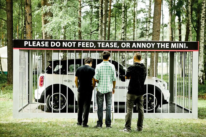 New outdoor campaign for MINI Countryman. Just seen it today on Positivus Festival in Latvia.