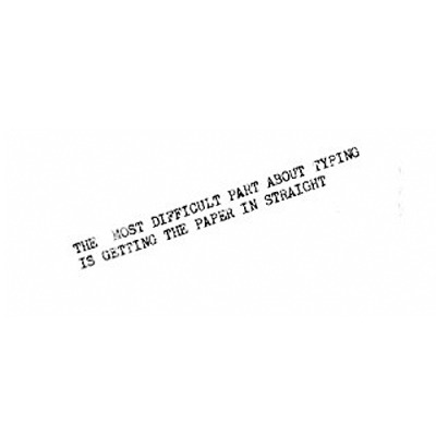 typewriter-poem by bpNichol