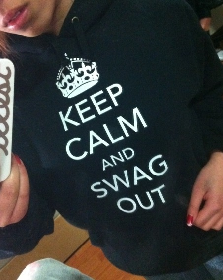 KEEP CALM AND SWAG OUT HOODIE!Size: XSCondition: Brand newSelling for: $70 ($65 with any other purchase) SOLD