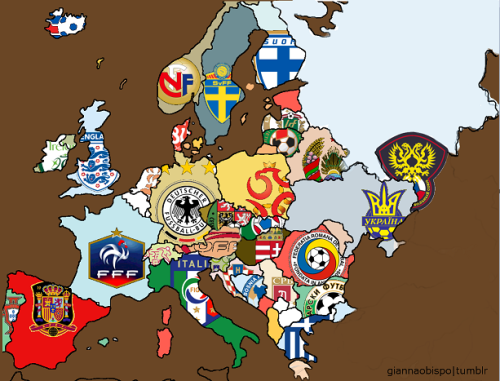 giannaobispo:  European Football Map (Sorry if I forgot to include some countries or I made some errors.)
