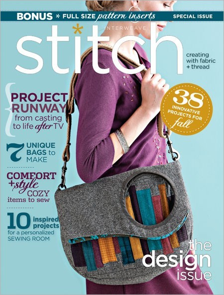 Cover Page Bag: I want the bag on the cover page of this fall 2011 issue of Stitch Magazine sooo bad! Unfortunately, my sewing skills are far from being up to par…