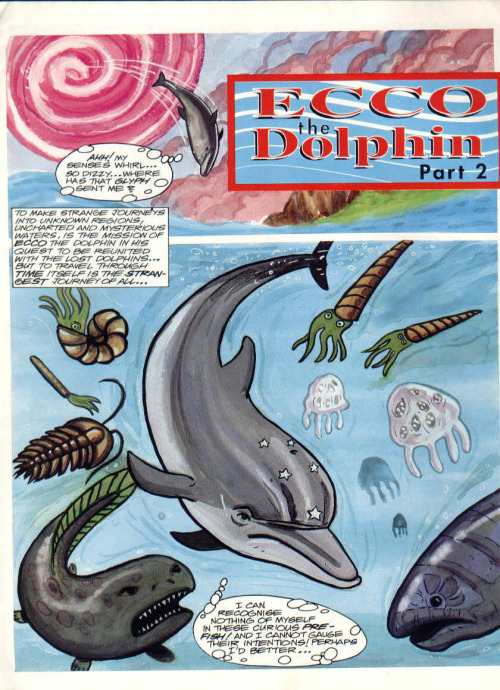 "A page from part 2 of the first story ""Ecco the Dolphin"", released inSonic The Comic (UK) issue 14 on 27. Nov. 1993."