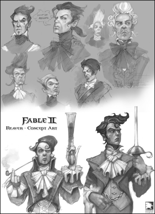 saveroomminibar:  Fable II. Reaver Concepts.