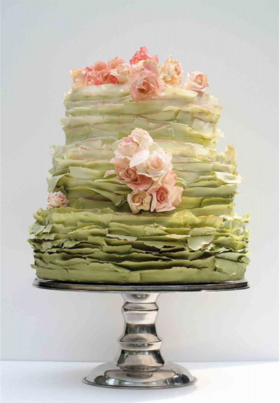 bridalsnob:  Green Ombre Wedding Cake. Love. This.