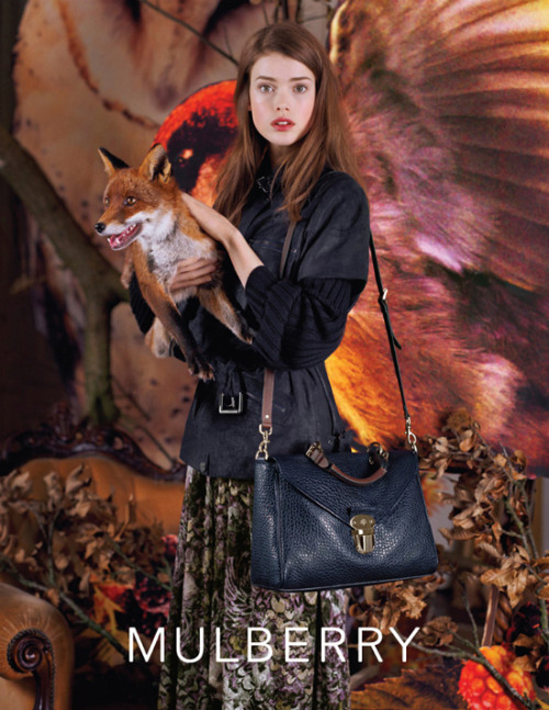 Fucking Mulberry Fall 2011 GAH did she really get to hold a fox?!?!!?!