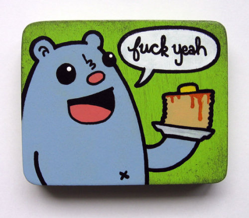 Fuck Yeah Pancakes Magnet from Kill Taupe (via Eff Yeah Pancakes Magnet by KillTaupe on Etsy)