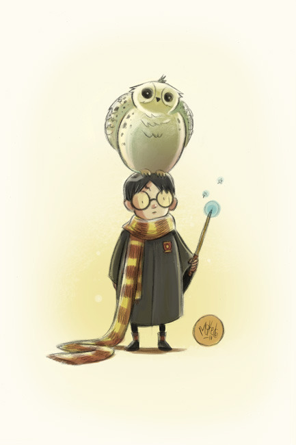 jyleshay:  Harry Potter - by Mike Maihack In honor of what day it is…