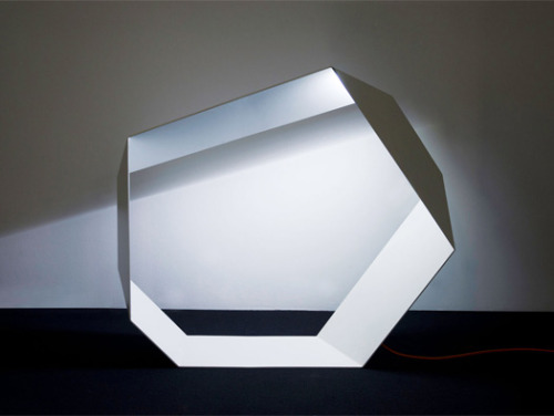 black-grey-pink-02:  Angolo Origami LED Lamp by Michael Schmidt